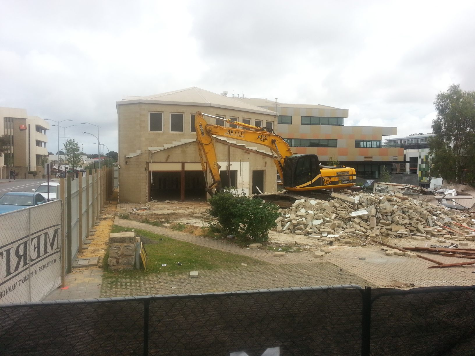 demolition of hall